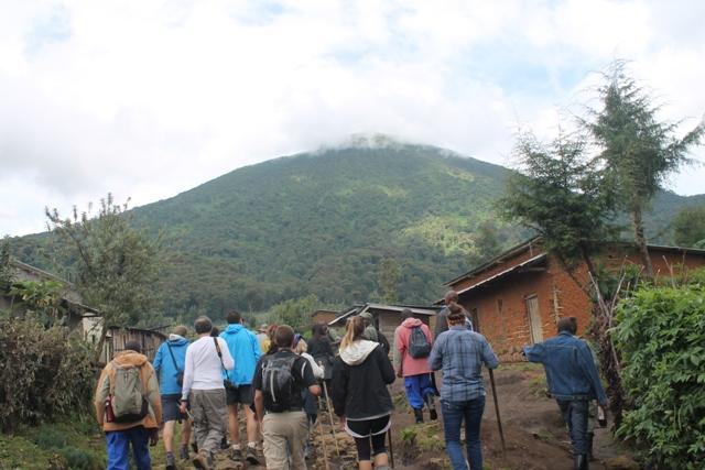 trekking bisoke volcano
